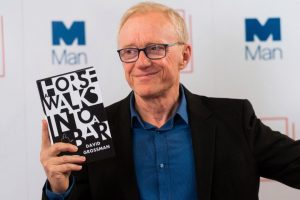 LONDON, UNITED KINGDOM - JUNE 13: Israeli author David Grossman with his book 'A Horse Walks Into A Bar' attends the 2017 Man Booker International Prize nominations photocall in London, United Kingdom on June 13, 2017.  (Photo by Ray Tang/Anadolu Agency/Getty Images)